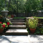 Transitional Steps to Rear Yard